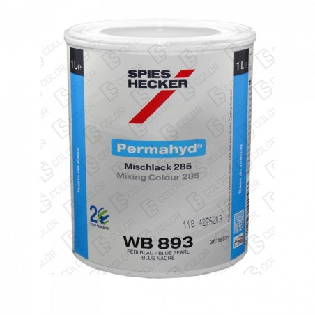 DS Color-PERMAHYD-SPIES HECKER WB893 BRIGHT BLUE PEARL 1LT