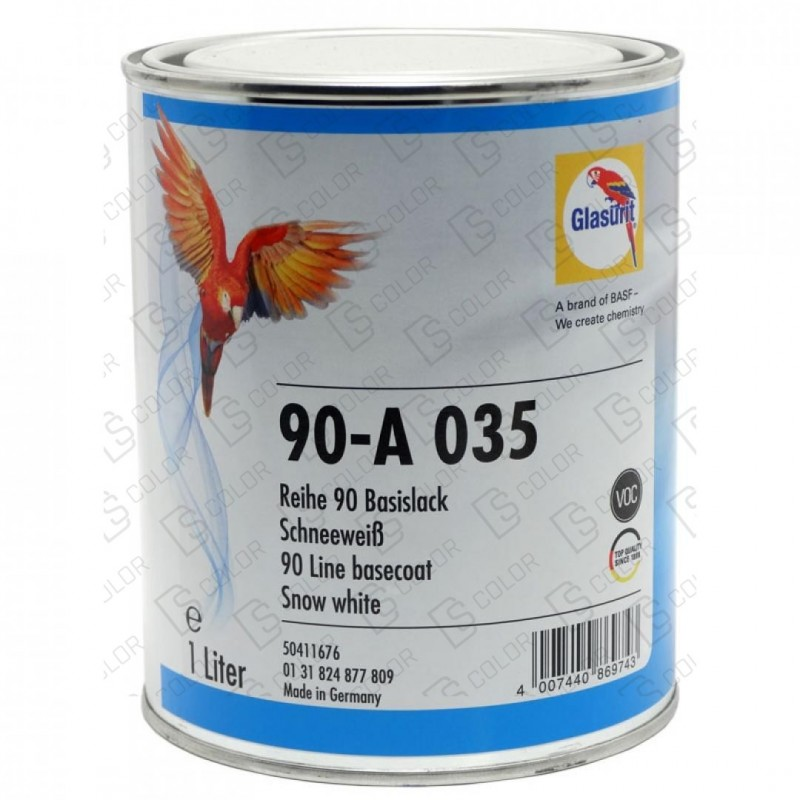 DS Color-SERIE 90-GLASURIT 90-A 035 SNOW WHITE 1 LT