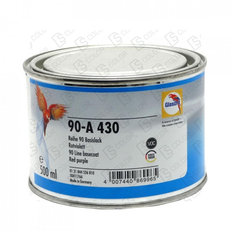 DS Color-SERIE 90-GLASURIT 90-A 430 ROJO VIOLETA 0.5LT