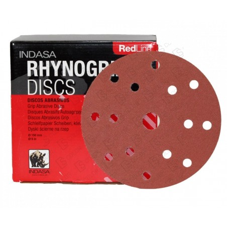 DS Color-INDASA-INDASA RHYNOGRIP RED LINE D150 15A P800 (50u.)