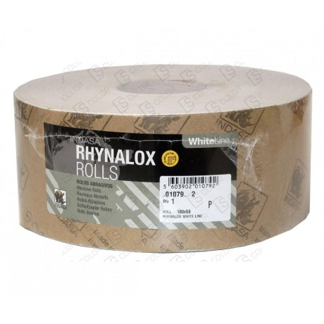 INDASA RHYNALOX WHITE LINE ROLLO 100x50 P80