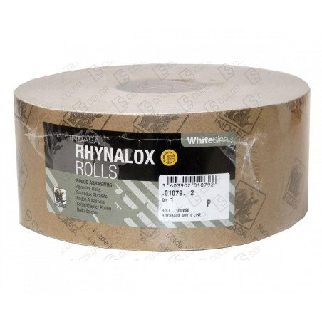 DS Color-INDASA-INDASA RHYNALOX WHITE LINE ROLLO 100x50 P80