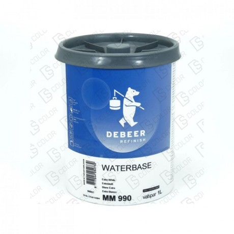 DS Color-WATERBASE SERIE 900-DE BEER MM990   1L W.B. Extra White