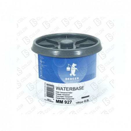 DS Color-WATERBASE SERIE 900-DE BEER MM927 0.5L W.B. Oxide Tr Yellow