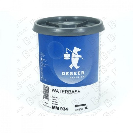 DS Color-WATERBASE SERIE 900-DE BEER MM934   1L W.B. Bright Blue