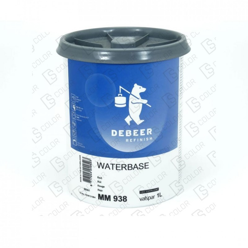DS Color-WATERBASE SERIE 900-DE BEER MM938   1L W.B. Red