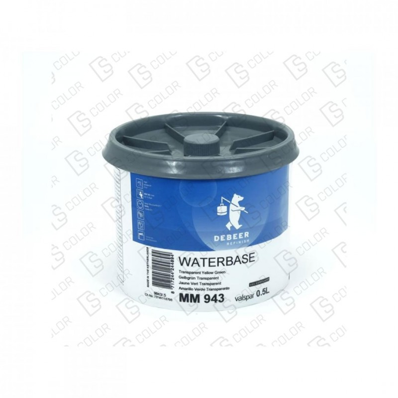 DS Color-WATERBASE SERIE 900-DE BEER MM943  0.5L WBTrYellowGreen