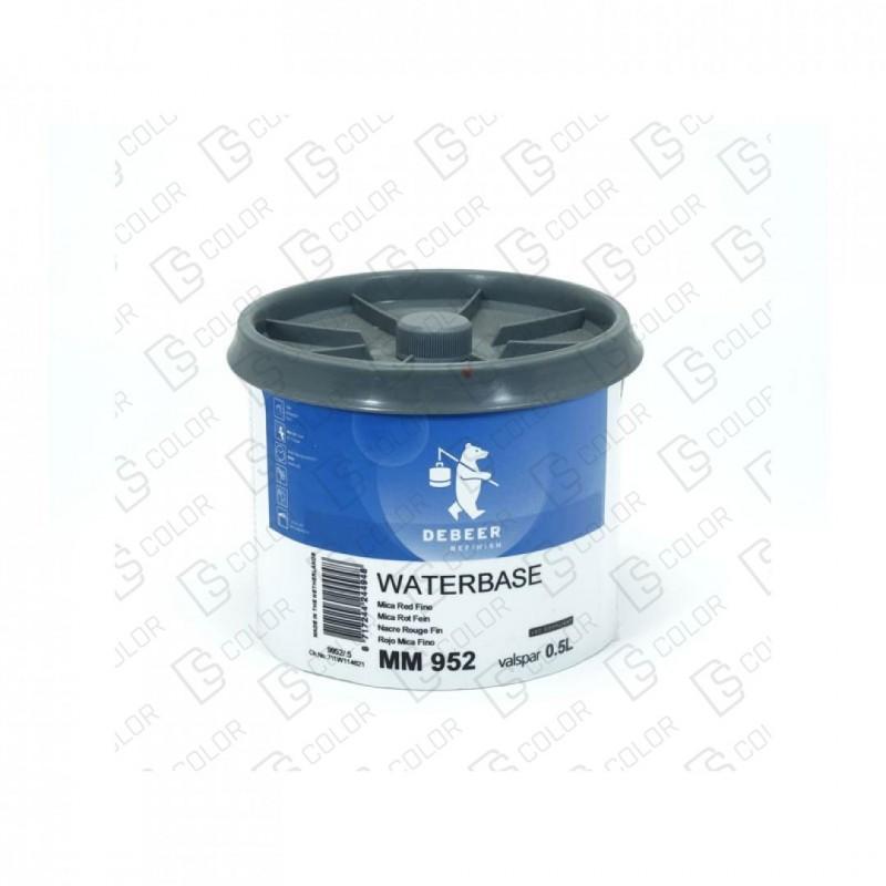 DS Color-WATERBASE SERIE 900-DE BEER MM952  0.5L WB MicaRed Fine