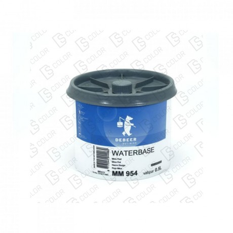DS Color-WATERBASE SERIE 900-DE BEER MM954  0.5L W.B. Mica Red