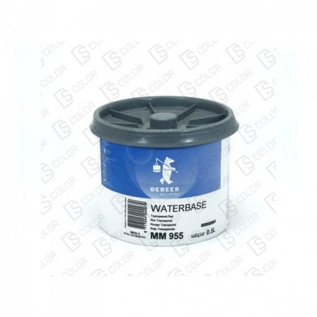 DS Color-WATERBASE SERIE 900-DE BEER MM955  0.5L W.B. Tr Red