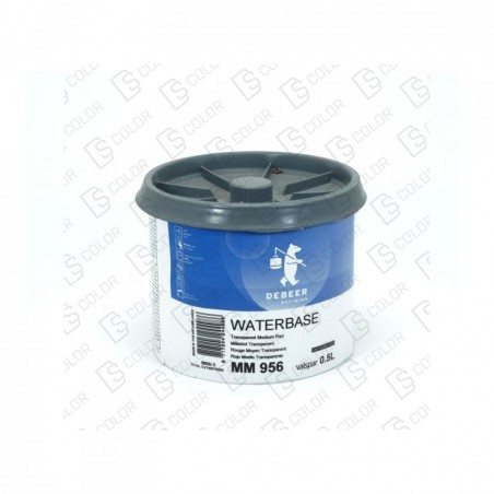 DS Color-WATERBASE SERIE 900-DE BEER MM956  0.5L WB Tr Medium Red