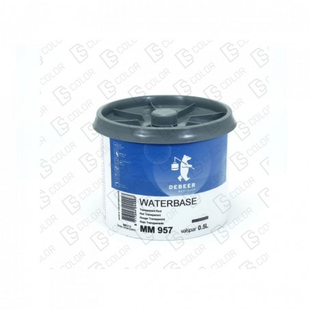DS Color-WATERBASE SERIE 900-DE BEER MM957  0.5L W.B. Oxide Tr Red