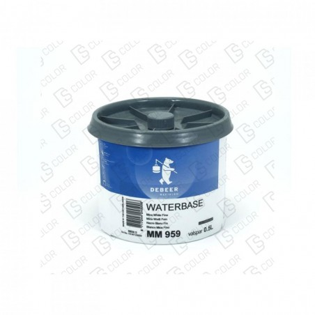 DS Color-WATERBASE SERIE 900-DE BEER MM959  0.5L W.B. Mica White Fine