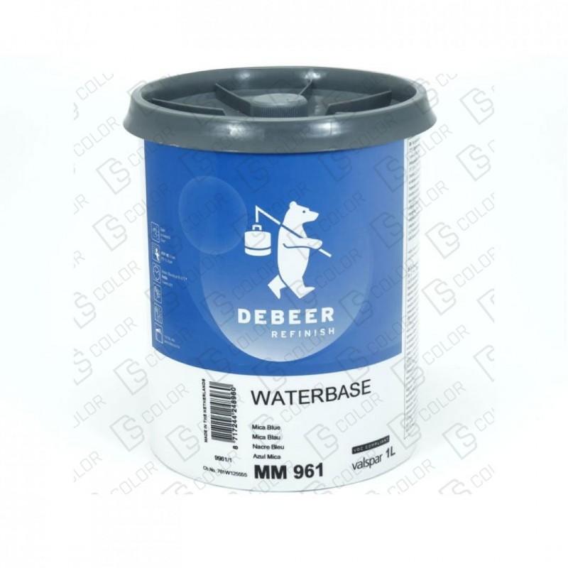 DS Color-WATERBASE SERIE 900-DE BEER MM961   1L W.B. Mica Blue