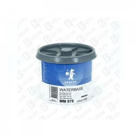 DS Color-WATERBASE SERIE 900-DE BEER MM978 0.5L WB M.WhiteV.Fine