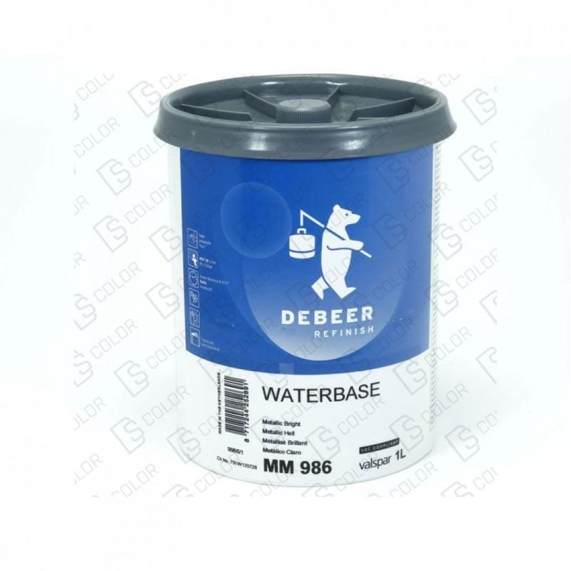 DS Color-WATERBASE SERIE 900-DE BEER MM986   1L W.B. Metallic Bright