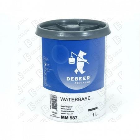 DS Color-WATERBASE SERIE 900-DE BEER MM987   1L W.B. Metallic Bright NF