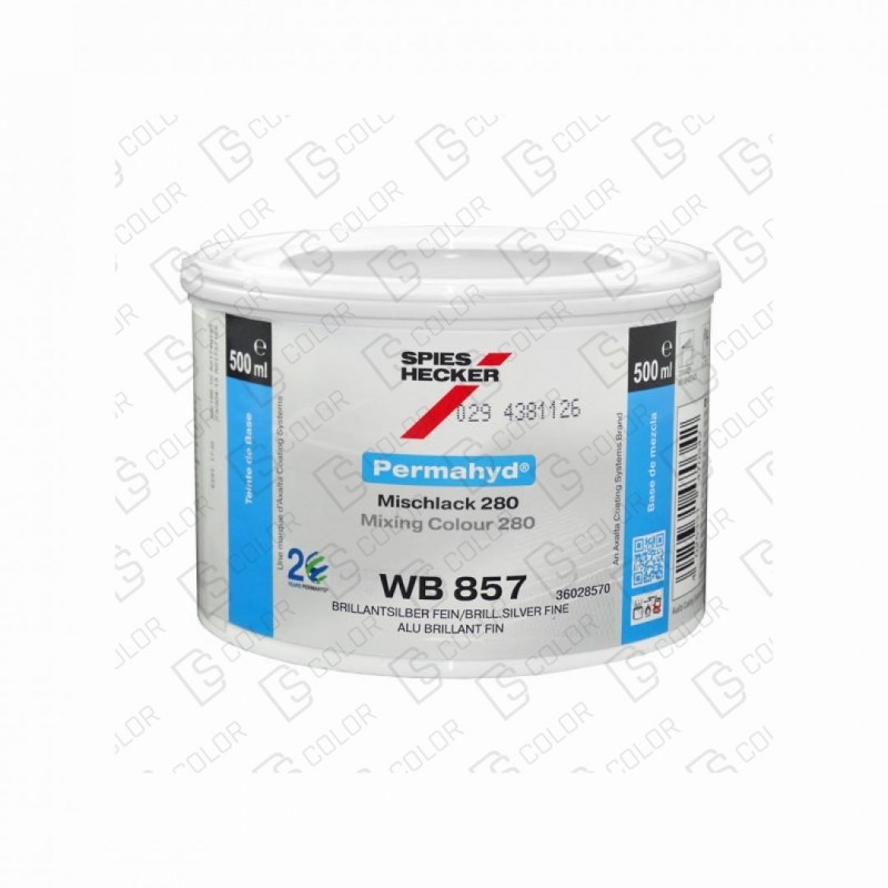DS Color-PERMAHYD-SPIES HECKER WB857 COARSE SMALL SILVER 0.5LT
