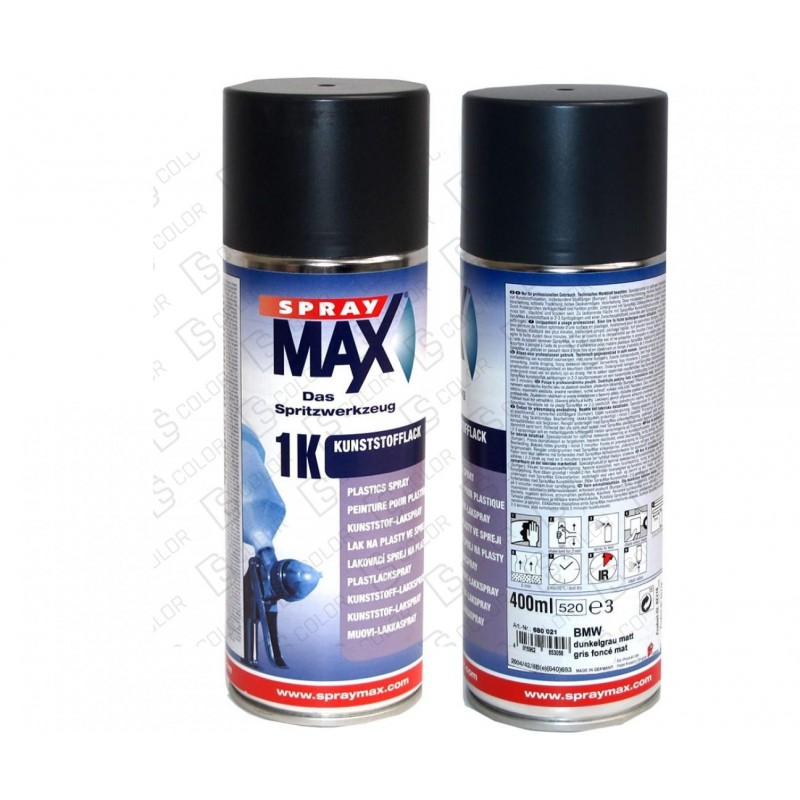 DS Color-SPRAYMAX-SPRAY MAX Acabado Plasticos BMW Gris Oscuro 400ml