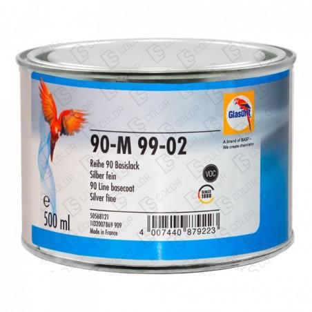 DS Color-SERIE 90-GLASURIT 90-M 99/02 SILVER FINE 0,5LT