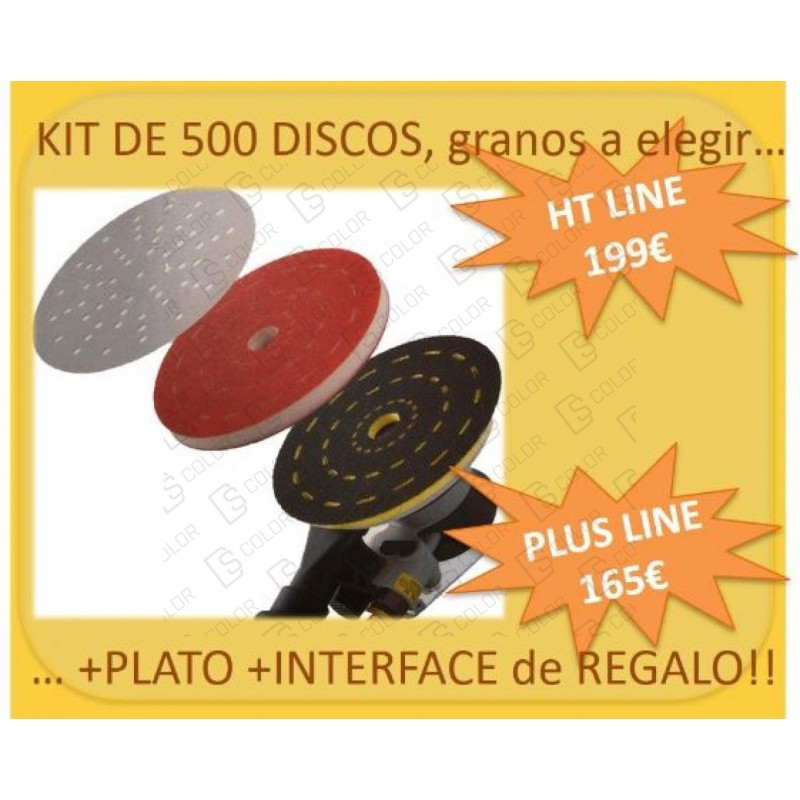 DS Color-INDASA-KIT INDASA ULTRAVENT HT 500 Discos+Plato+Interface