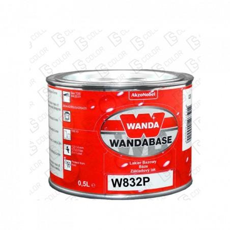 DS Color-WANDABASE-WANDA WB832P ROJO (NARANJA) PERLADO FINO 0,5LT