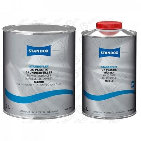 KIT STANDOX IMPRIMACION PLASTICOS GRIS CL + CATALIZADOR
