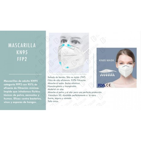DS Color-DS COLOR-MASCARILLA FFP2 KN95 SIN VALVULA (1 unidad)