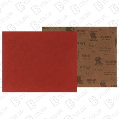 DS Color-INDASA-INDASA RHYNOWET RED LINE HOJA 230x280 P320 unidad