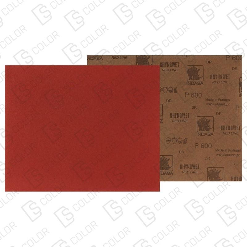 DS Color-INDASA-INDASA RHYNOWET RED LINE HOJA 230x280 P600 unidad