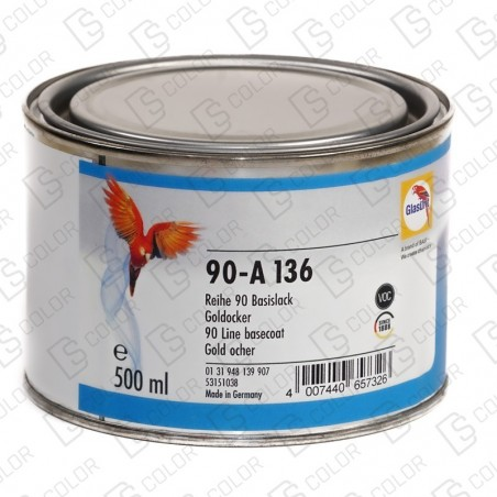 DS Color-SERIE 90-GLASURIT 90-A 136 OCRE ORO 0.5LT