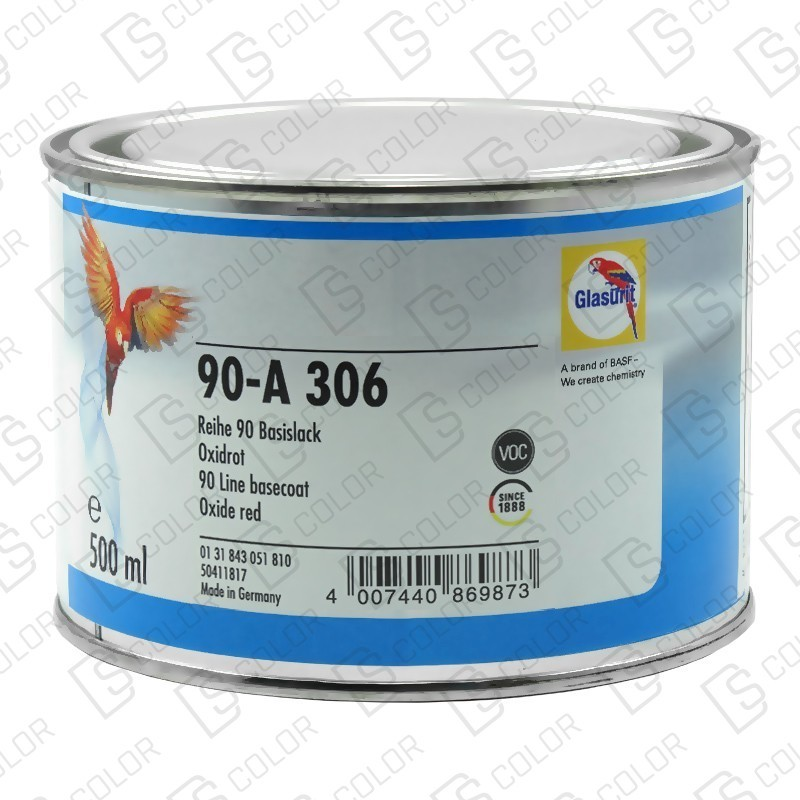 DS Color-SERIE 90-GLASURIT 90-A 306 ROJO OXIDO 0.5LT