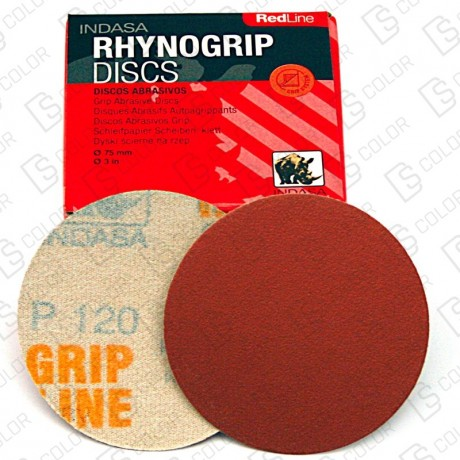 DS Color-INDASA-INDASA RHYNOGRIP RED LINE D75 P240 (50u.)