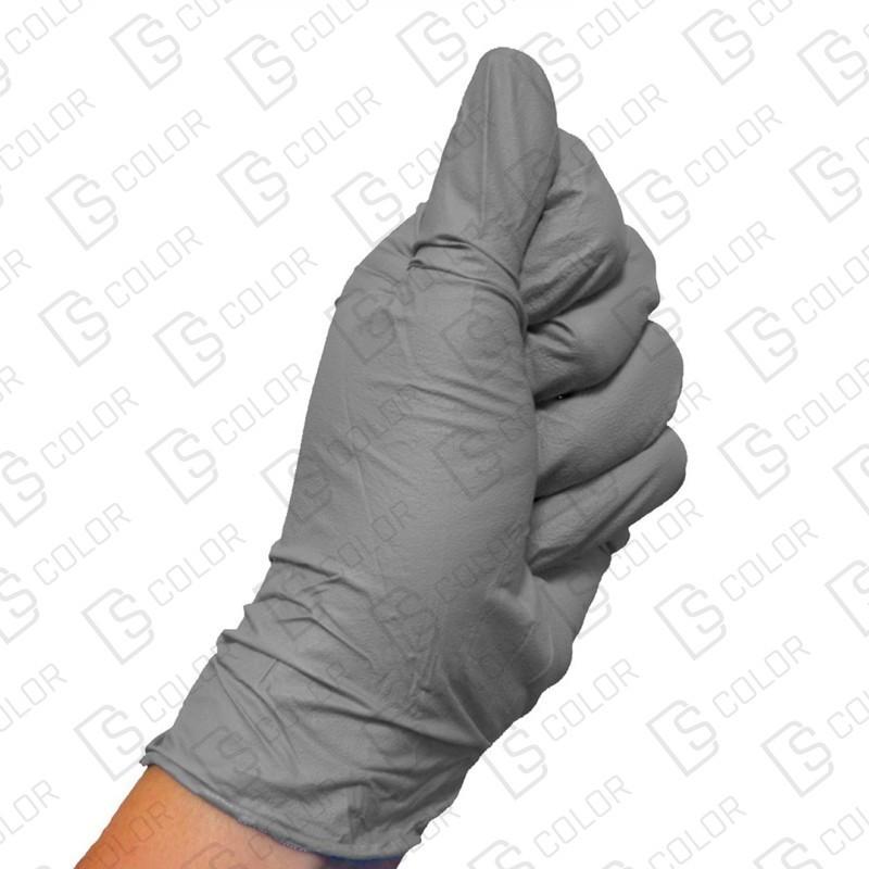 DS Color-COLAD PROTECCIÓN E HIGIENE-COLAD GUANTES NITRILO GRIS XL