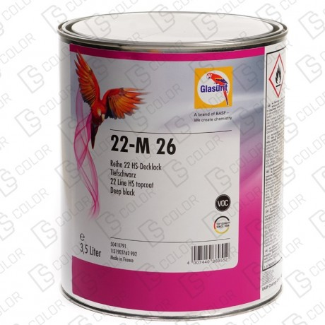 GLASURIT 22-M 26 Deep Black 3.5LT