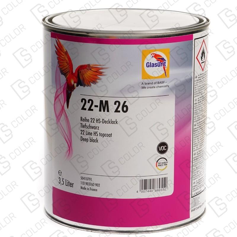 DS Color-SERIE 22-GLASURIT 22-M 26 Deep Black 3.5LT