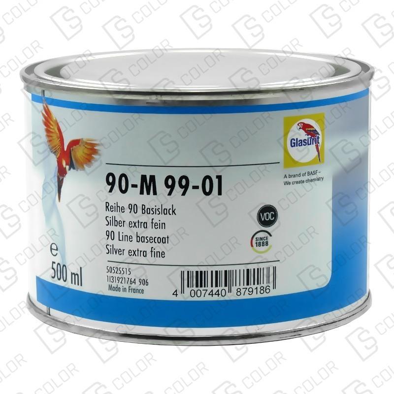 DS Color-SERIE 90-GLASURIT 90-M 99/01 SILVER EXTRA FINE 0,5LT