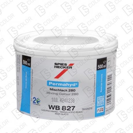 DS Color-PERMAHYD-SPIES HECKER WB827 MEDIUM BLACK 0,5LT