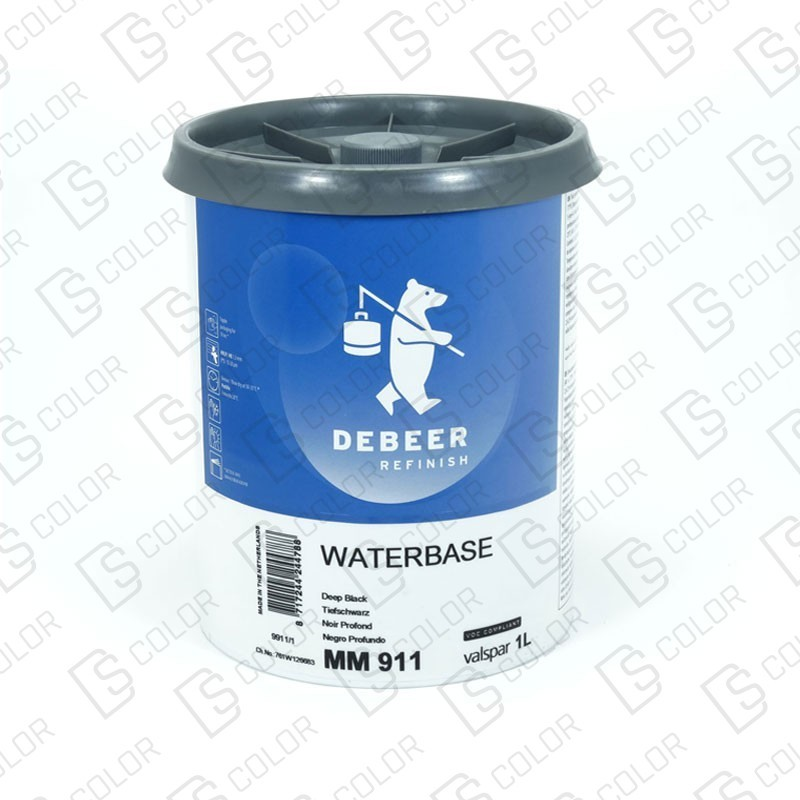 DS Color-WATERBASE SERIE 900-DE BEER MM911   1L W.B. Special Black