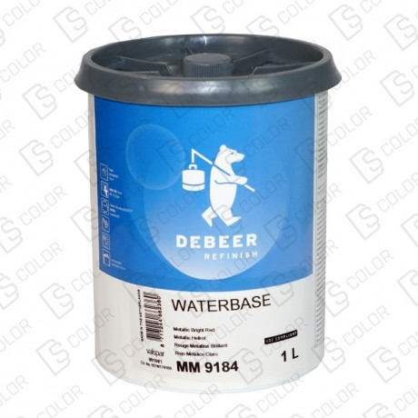 DS Color-WATERBASE SERIE 900-DE BEER MM9184 METALIC BRIGHT RED   1L