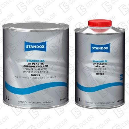 DS Color-STANDOX APAREJOS-KIT STANDOX IMPRIMACION PLASTICOS GRIS CL + CATALIZADOR
