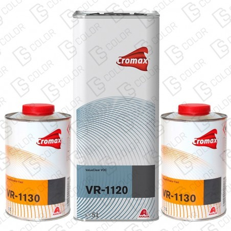 DS Color-CROMAX BARNICES-KIT DUPONT VR1120 (1u.) + VR1130 (2u.) Rapido