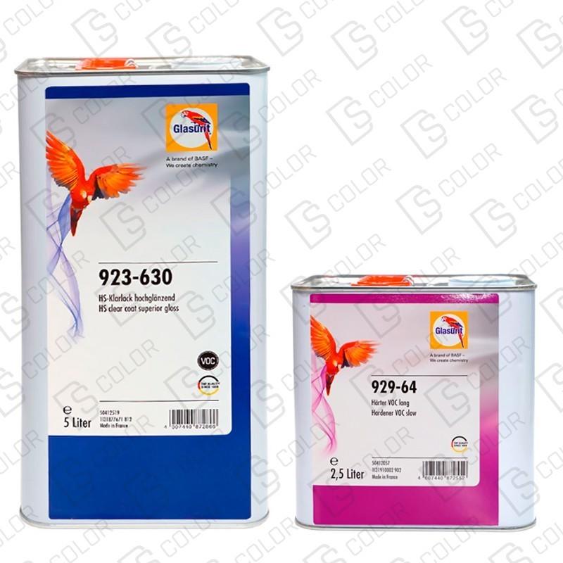DS Color-GLASURIT BARNICES-KIT GLASURIT 923-630 5L A.B.+CATALIZADOR 929-64 2,5L LENTO