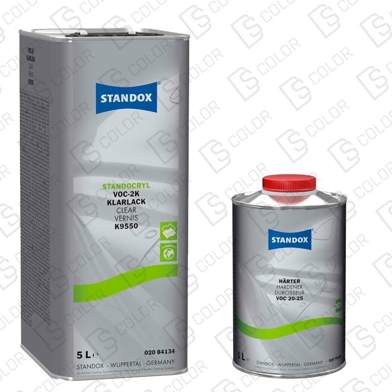 DS Color-STANDOX BARNICES-KIT STANDOX BARNIZ VOC 2K K9550 5L +CATALIZADOR VOC 20-25