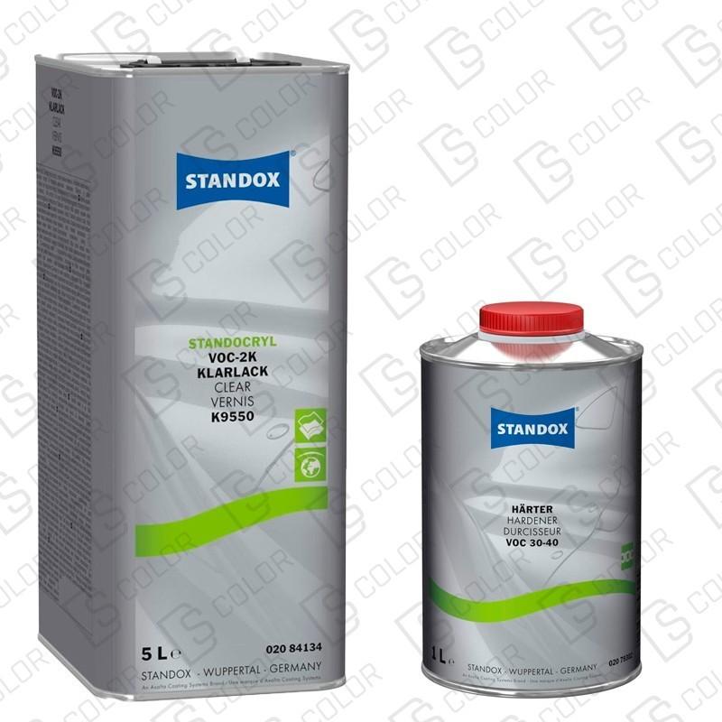 DS Color-STANDOX BARNICES-KIT STANDOX BARNIZ VOC 2K K9550 5L +CATALIZADOR VOC 30-40