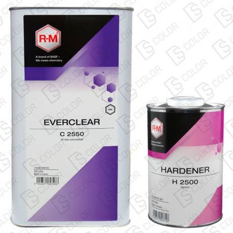 DS Color-RM BARNICES-KIT RM BARNIZ EVERCLEAR 5L +CATALIZADOR H2500 1L (NORMAL)