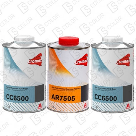 DS Color-CROMAX BARNICES-KIT CROMAX BARNIZ CC6500 2x1L + CATALIZADOR AR7505 1L