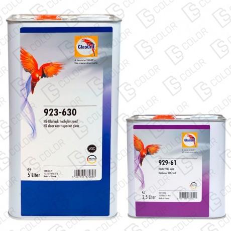 DS Color-GLASURIT BARNICES-KIT GLASURIT BARNIZ HS VOC AB 923-630 5L +929-61 2,5L FAST