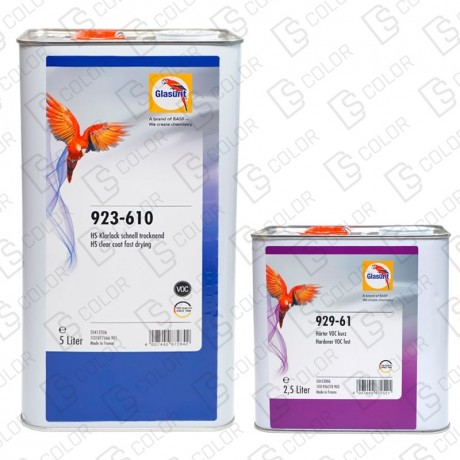 DS Color-GLASURIT BARNICES-KIT GLASURIT BARNIZ HS VOC FAST 923-610 5L+929-61 FAST2,5