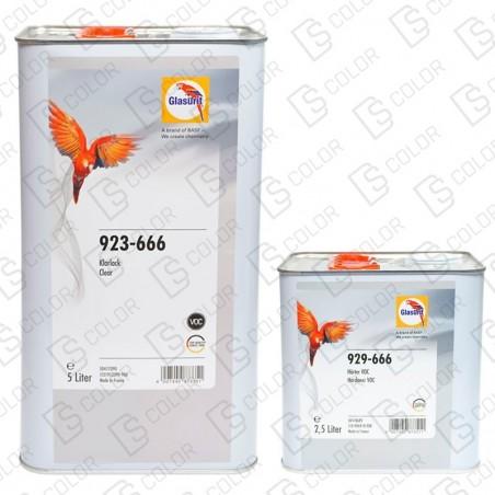 DS Color-GLASURIT BARNICES-KIT GLASURIT BARNIZ 923-666 5L+CAT 929-666 2.5L